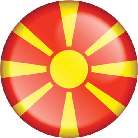 Country flag of Republic of North Macedonia
