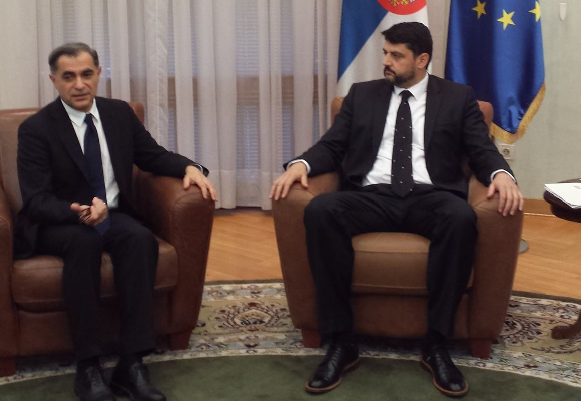 Meeting with the counsellor of the Prime Minister, Mr. Vladimir Bojovici