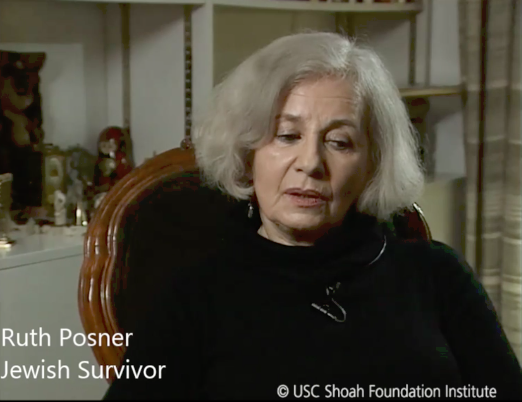Ruth Posner, Jewish survivor. USC Shoah Foundation.