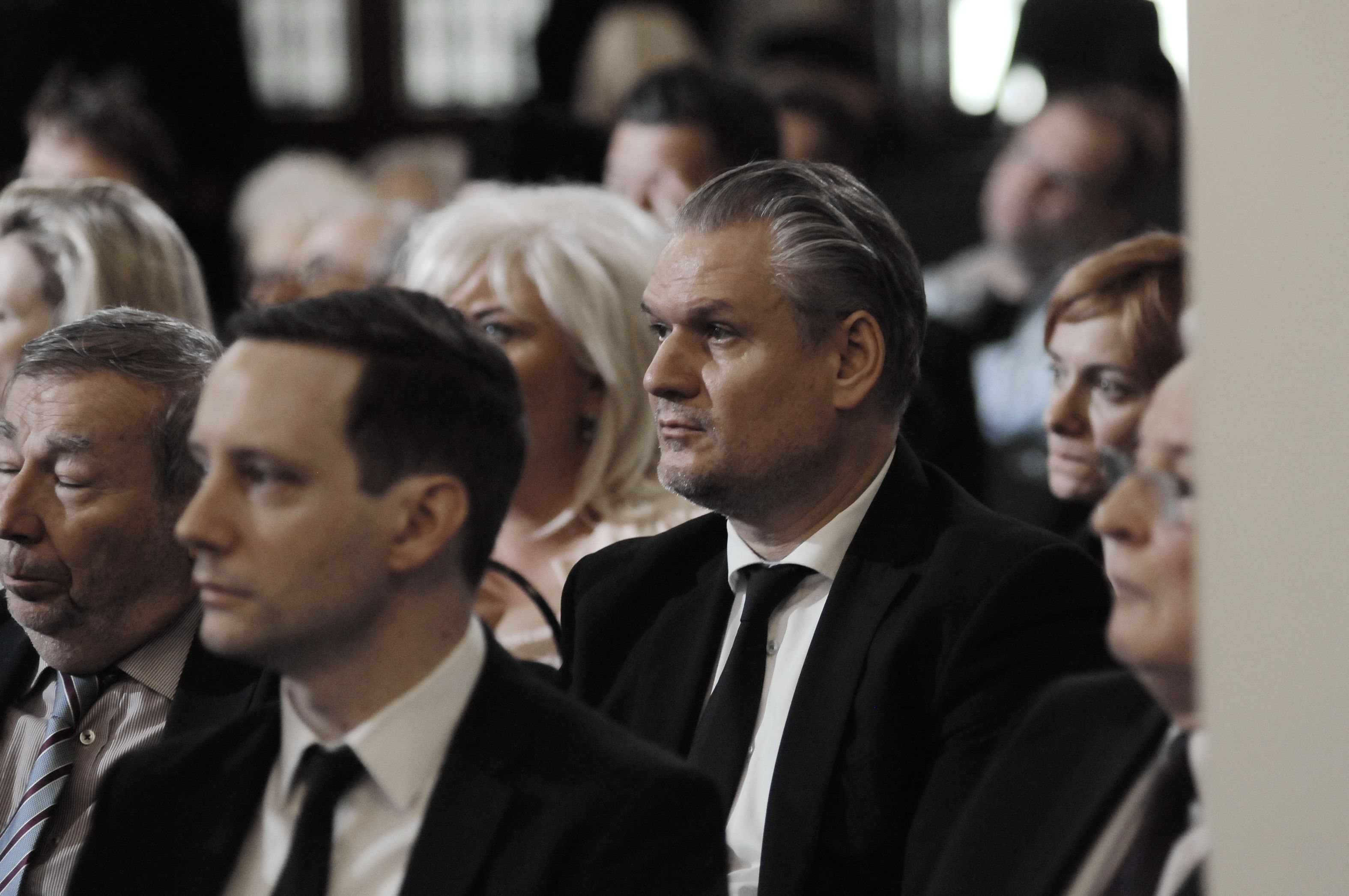 State Secretary for European Union Affairs at the Office of the Prime Minister of Hungary and Head of the Hungarian Delegation to the IHRA, Szabolcs Takács, at the Memorial Day of the Hungarian Victims of the Holocaust in Budapest.