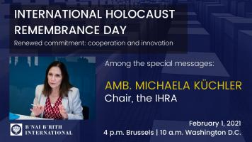 IHRA Chair speaks at B'nai B'rith commemorative event
